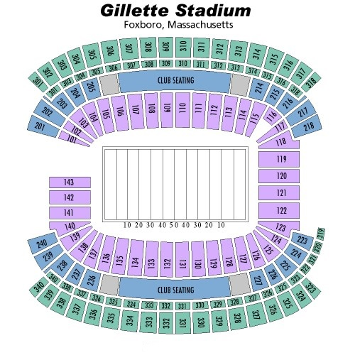 Gillette Stadium Seating Chart, New England Patriots