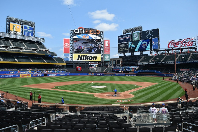 Photo taken from the lower level of Citi Field, home of the New York Mets.