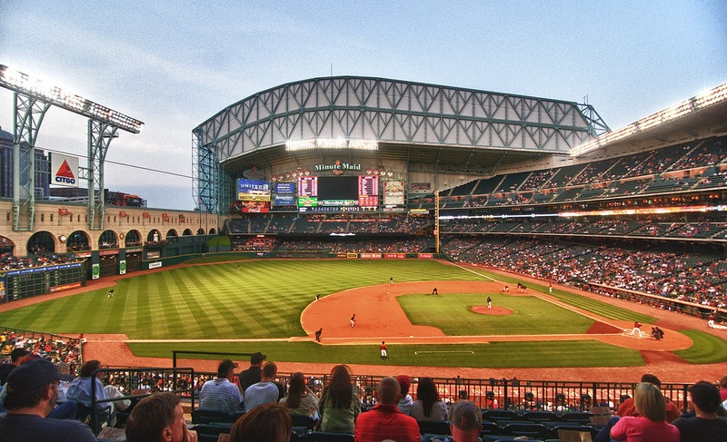 Photo of Minute Maid Park, home of the Houston Astros.