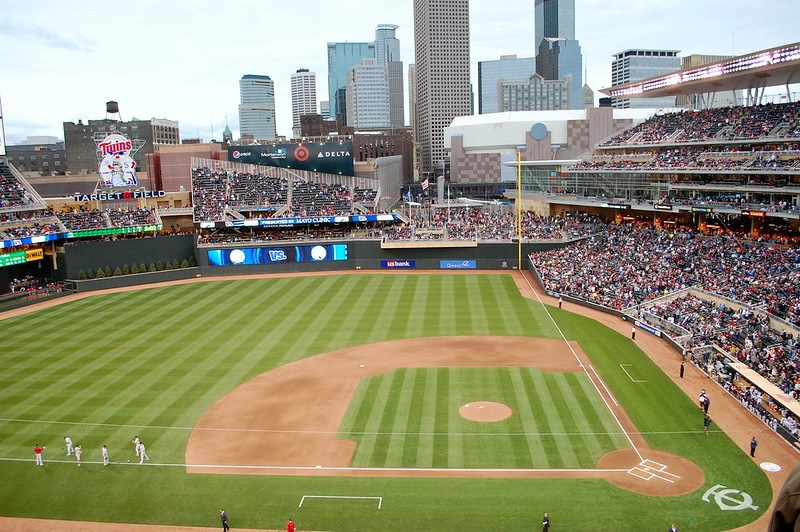 Photo of a Minnesota Twins game at Target Field in Minneapolis, Minnesota.