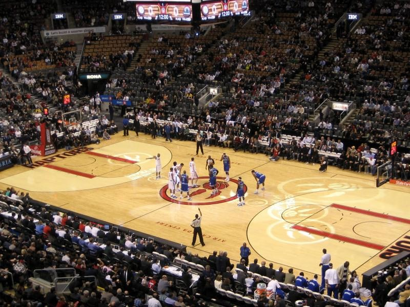 Photo of a Toronto Raptors game at Scotiabank Arena.