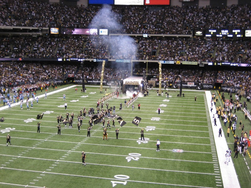 Photo of Mercedes-Benz Superdome, home of the New Orleans Saints.