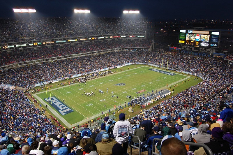 Photo of the field at Nissan Stadium during a Tennessee Titans home game.
