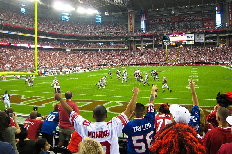 Photo of the field at State Farm Stadium during an Arizona Cardinals game.