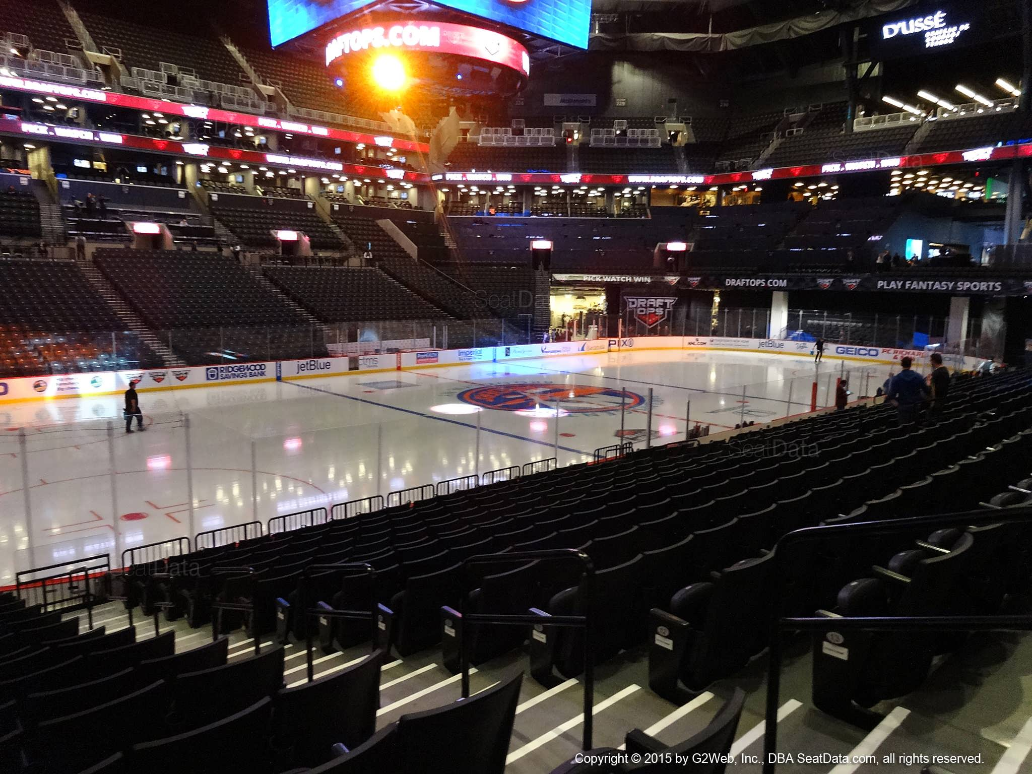 Seat view from section 10 at the Barclays Center, home of the New York Islanders