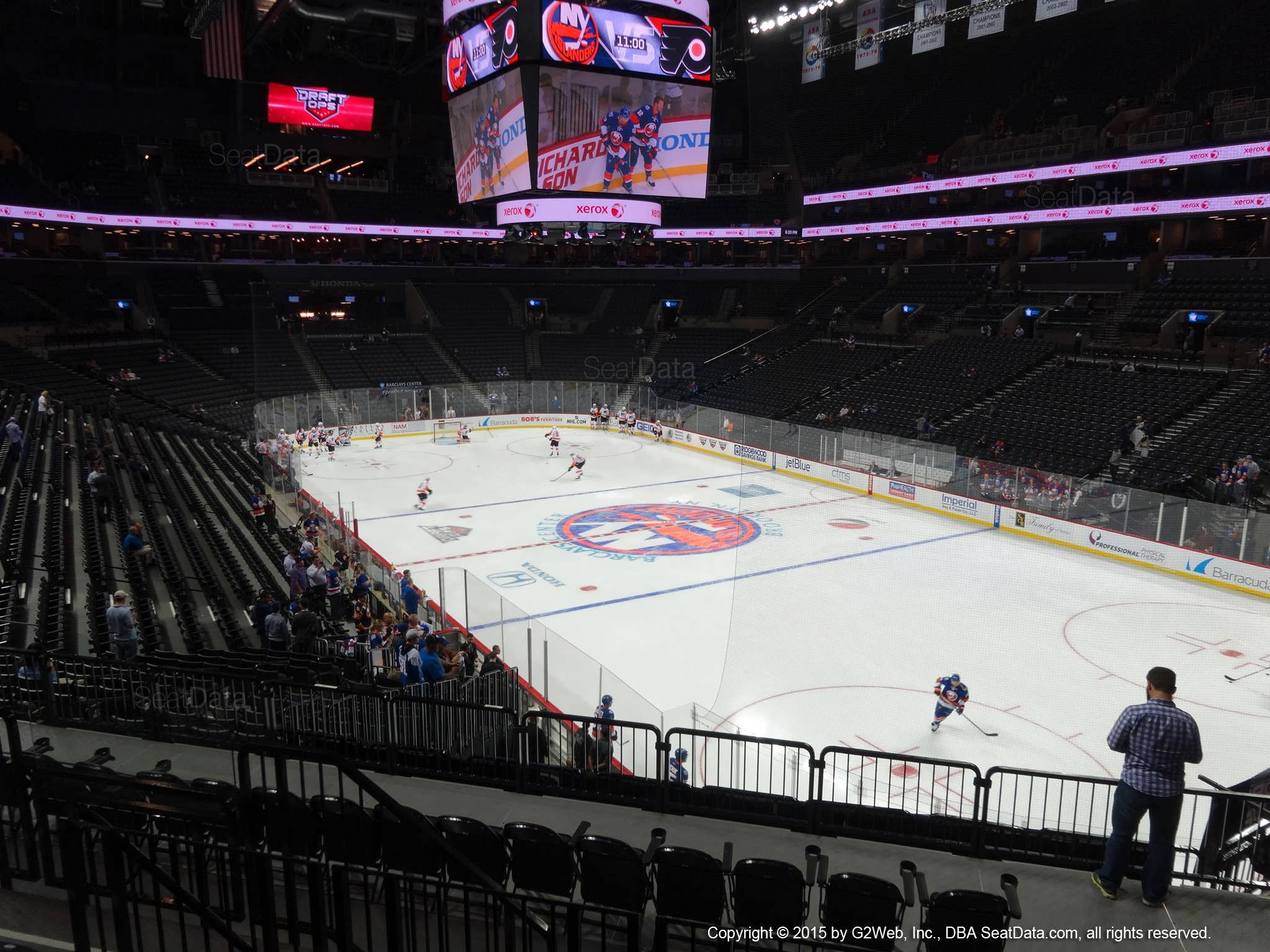 Seat View from Section 102 at the Barclays Center, home of the New York Islanders