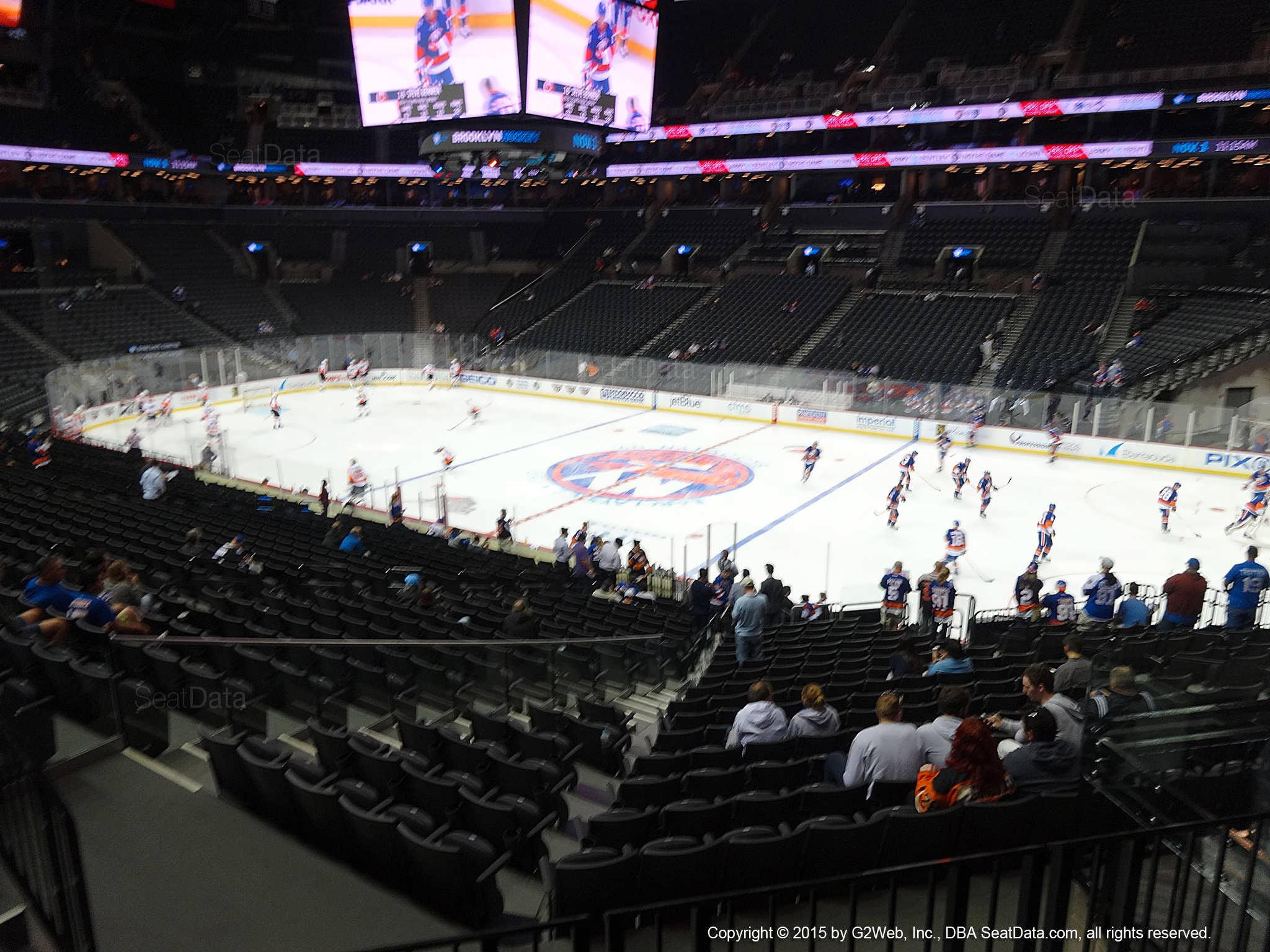 Seat View from Section 105 at the Barclays Center, home of the New York Islanders