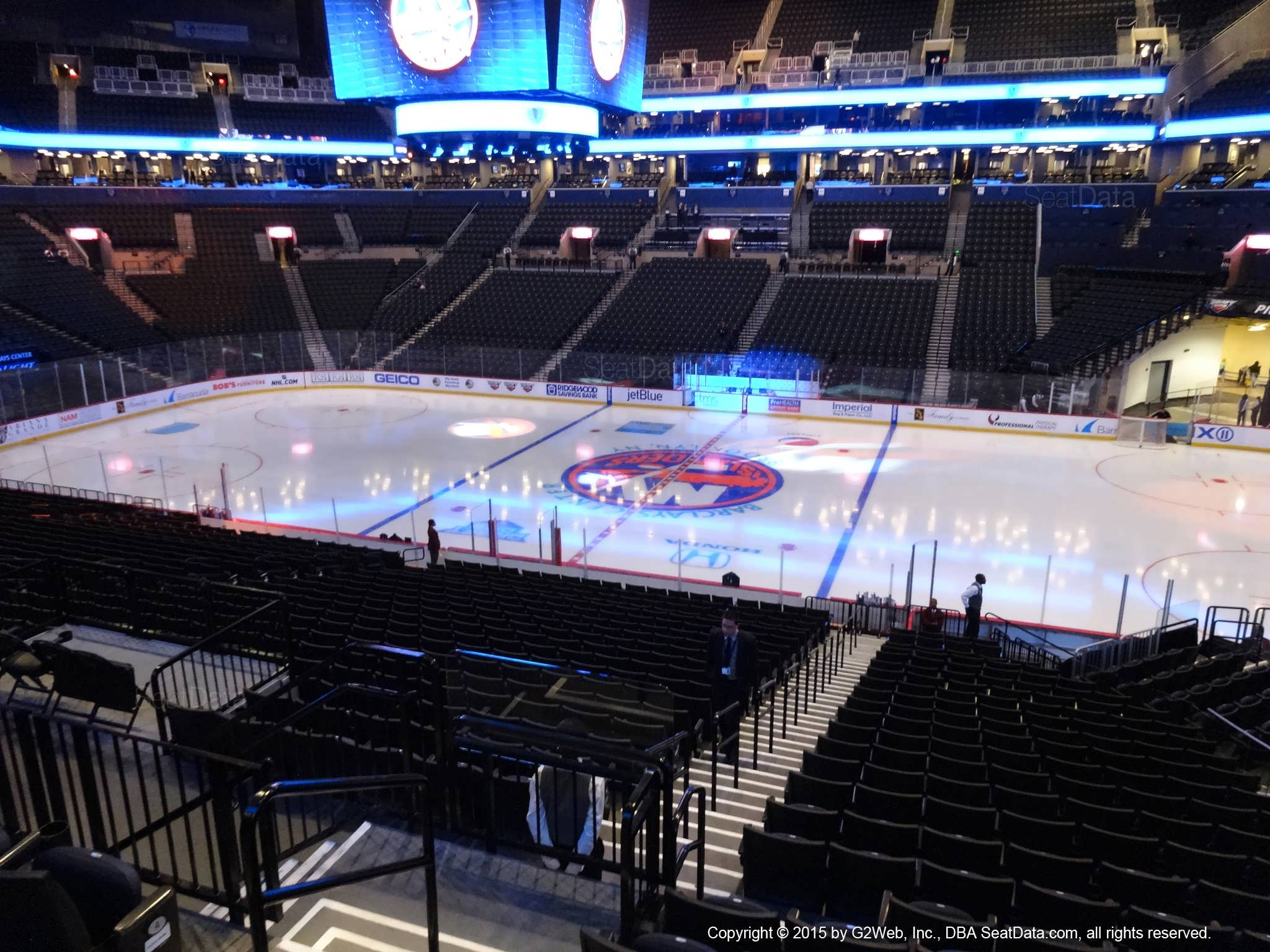 Seat View from Section 106 at the Barclays Center, home of the New York Islanders