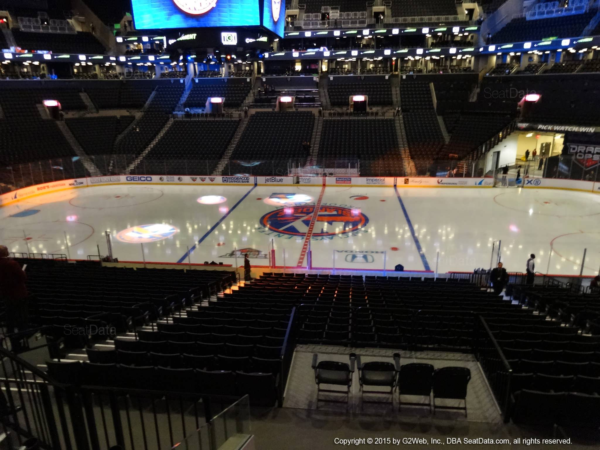 Seat View from Section 107 at the Barclays Center, home of the New York Islanders