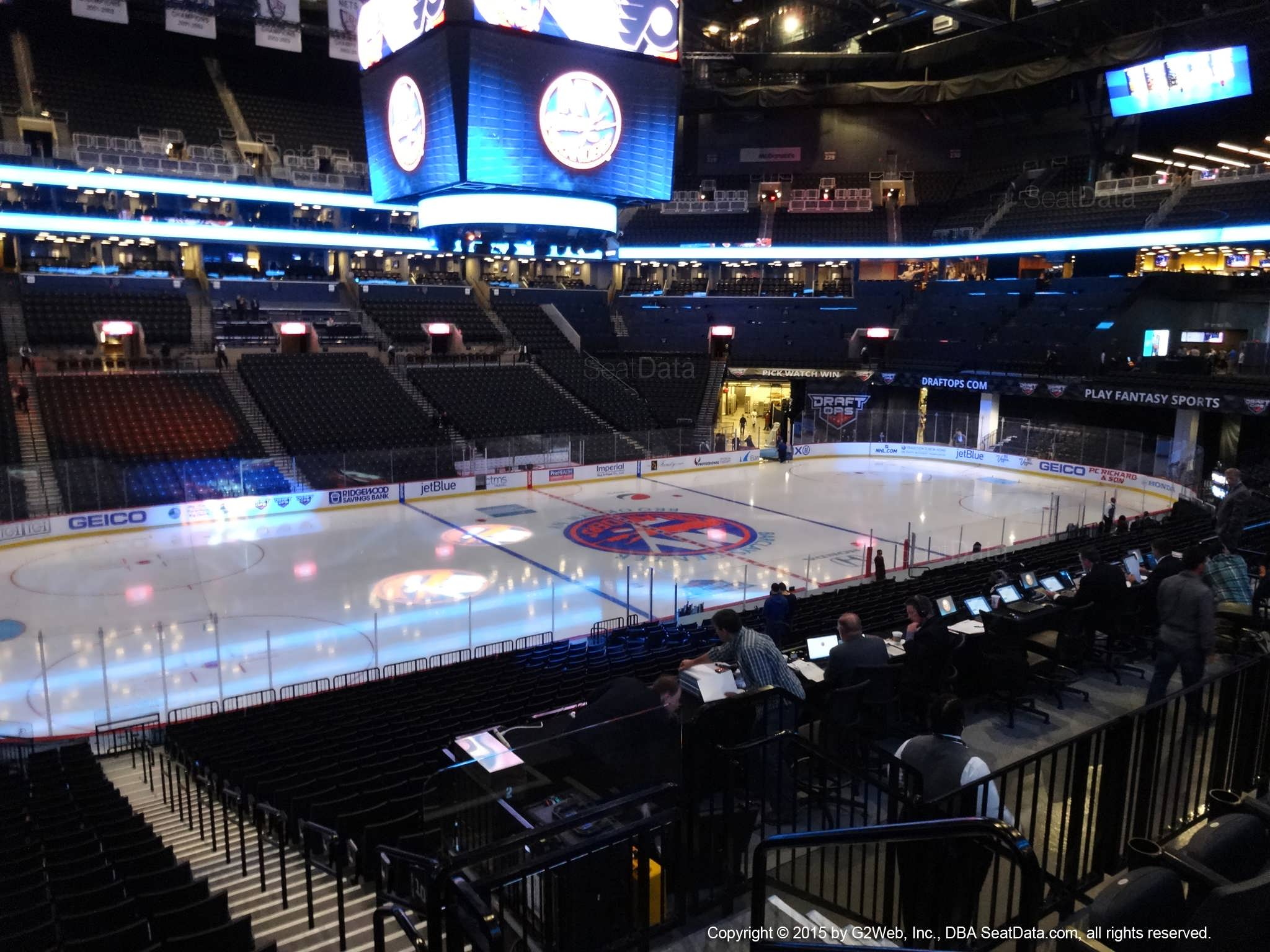 Seat View from Section 110 at the Barclays Center, home of the New York Islanders