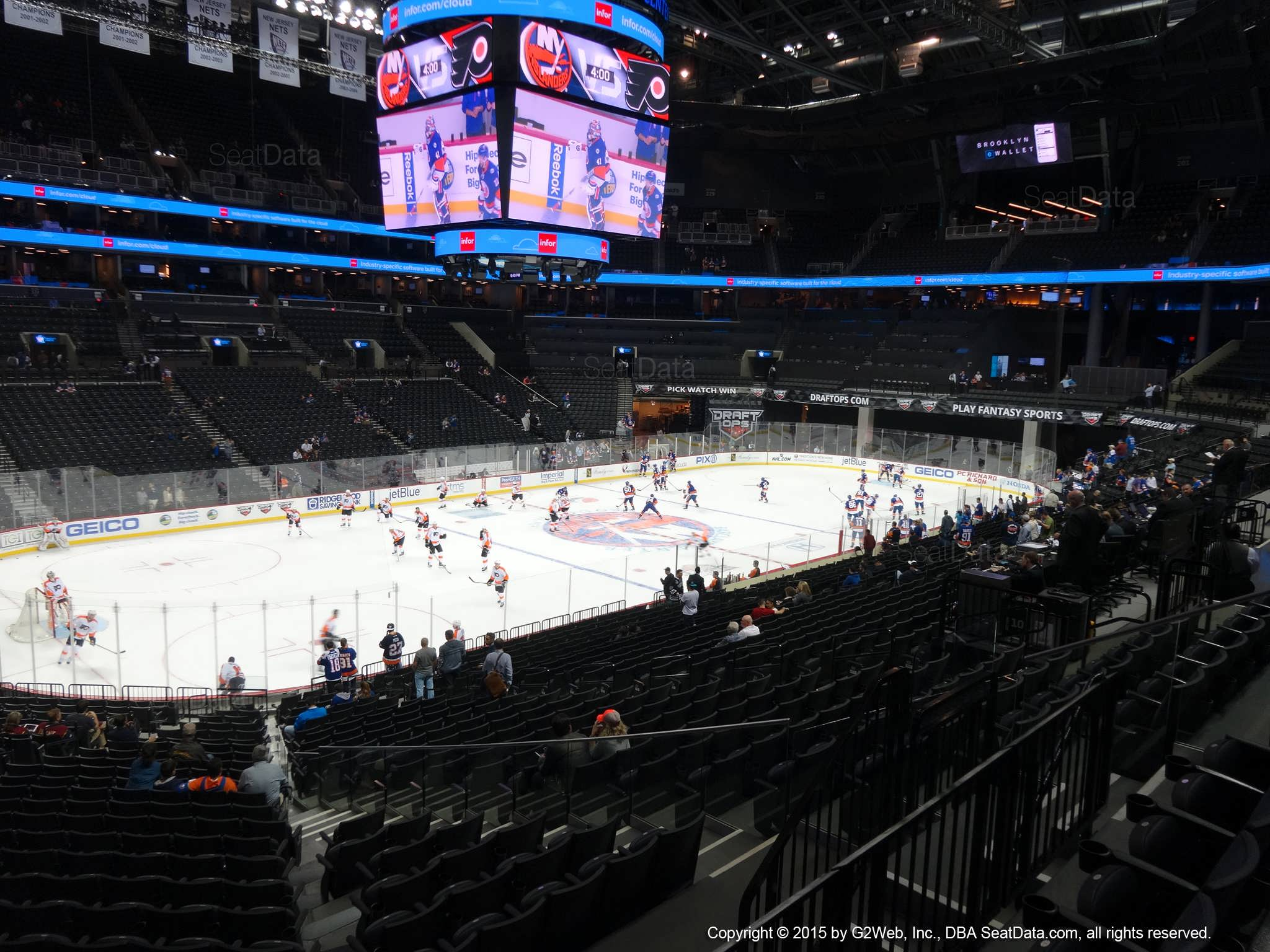 Seat View from Section 111 at the Barclays Center, home of the New York Islanders