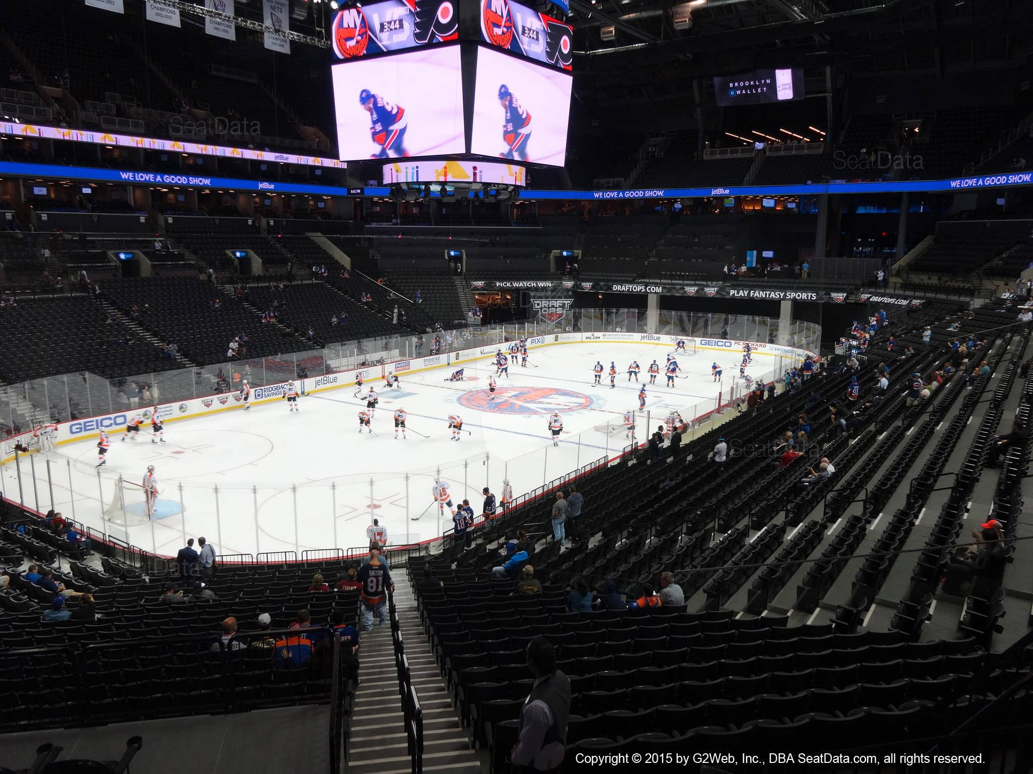 Seat View from Section 112 at the Barclays Center, home of the New York Islanders