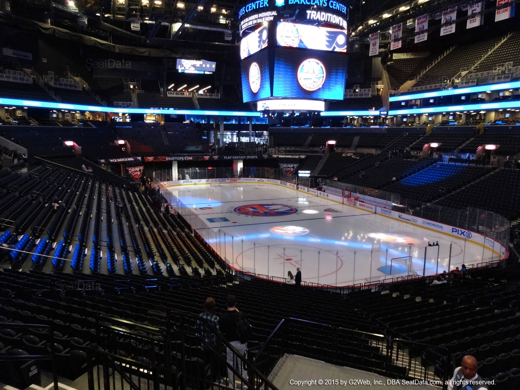 Seat View from Section 118 at the Barclays Center, home of the New York Islanders