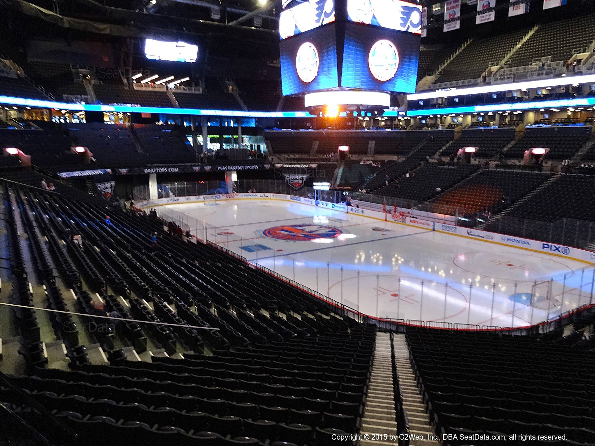Seat View from Section 120 at the Barclays Center, home of the New York Islanders