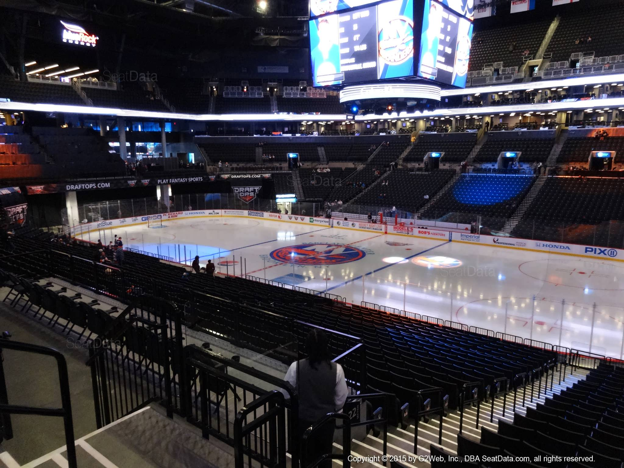 Seat View from Section 122 at the Barclays Center, home of the New York Islanders
