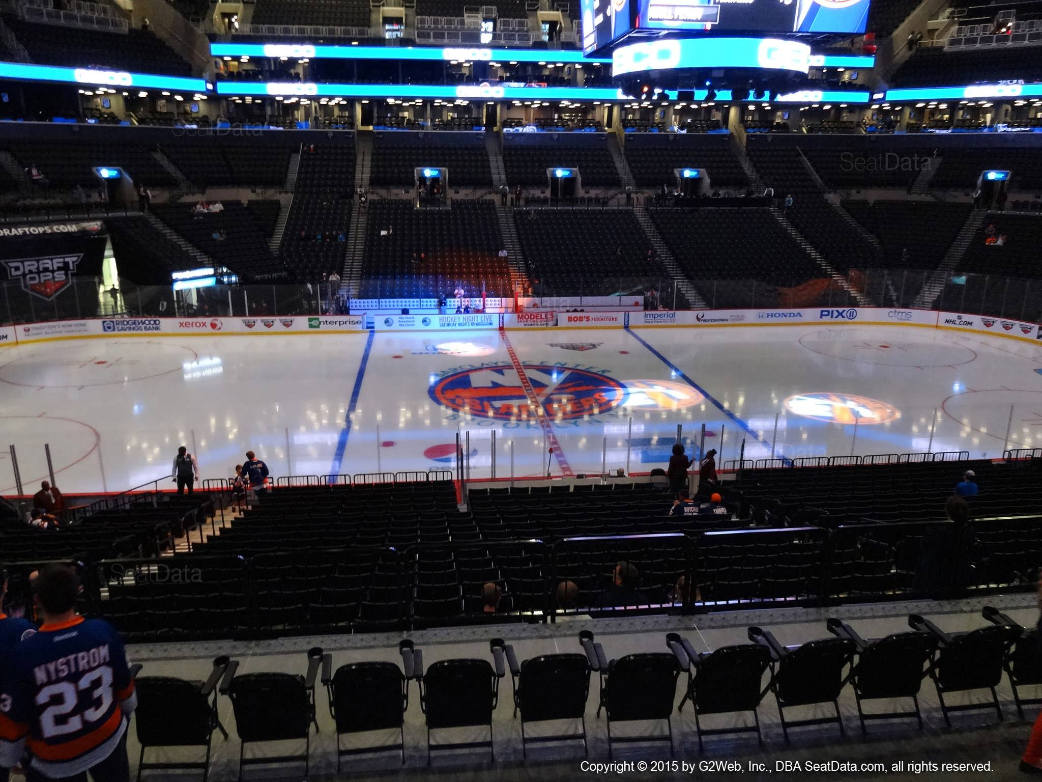 Seat View from Section 125 at the Barclays Center, home of the New York Islanders