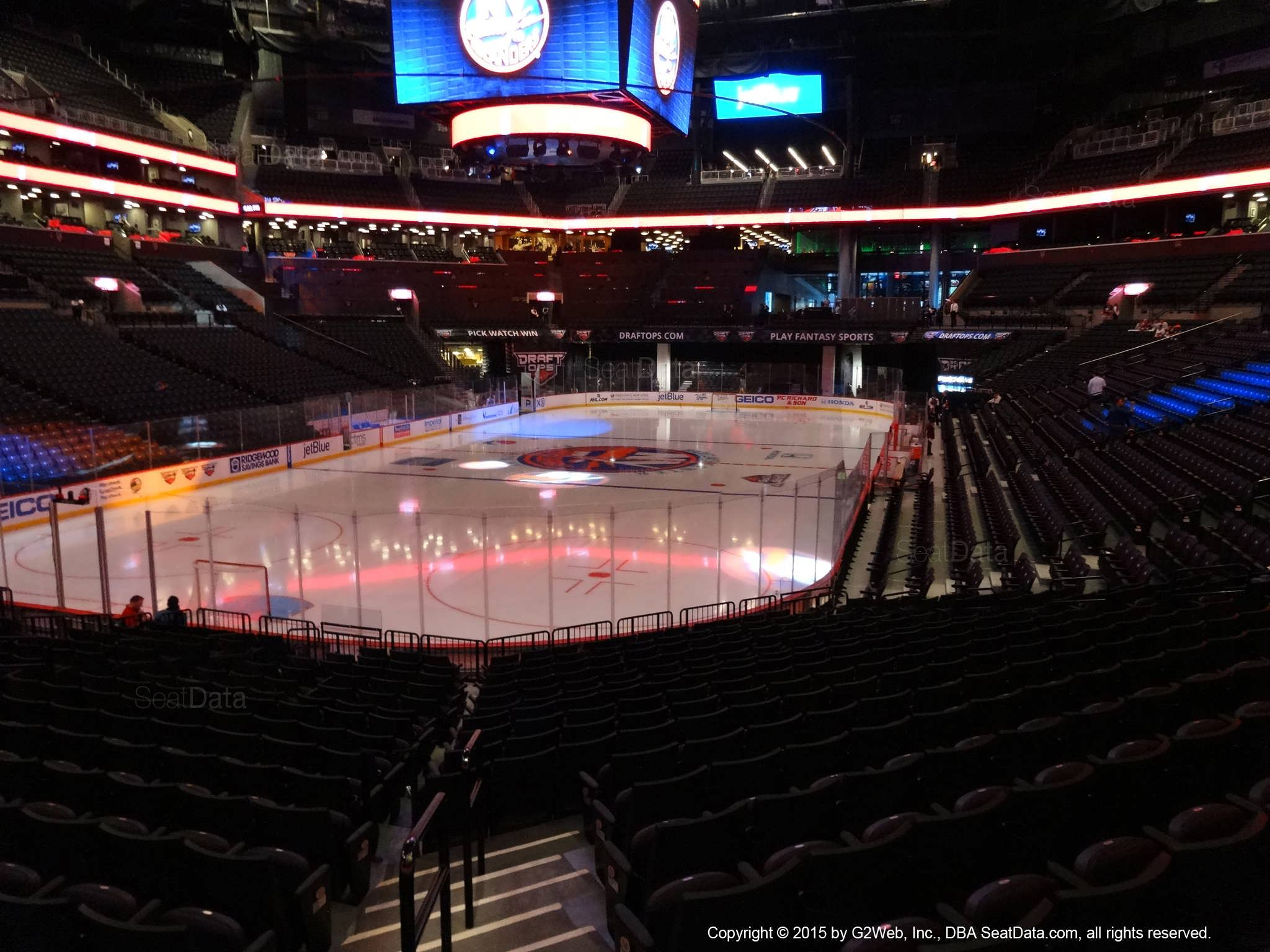 Seat view from section 13 at the Barclays Center, home of the New York Islanders