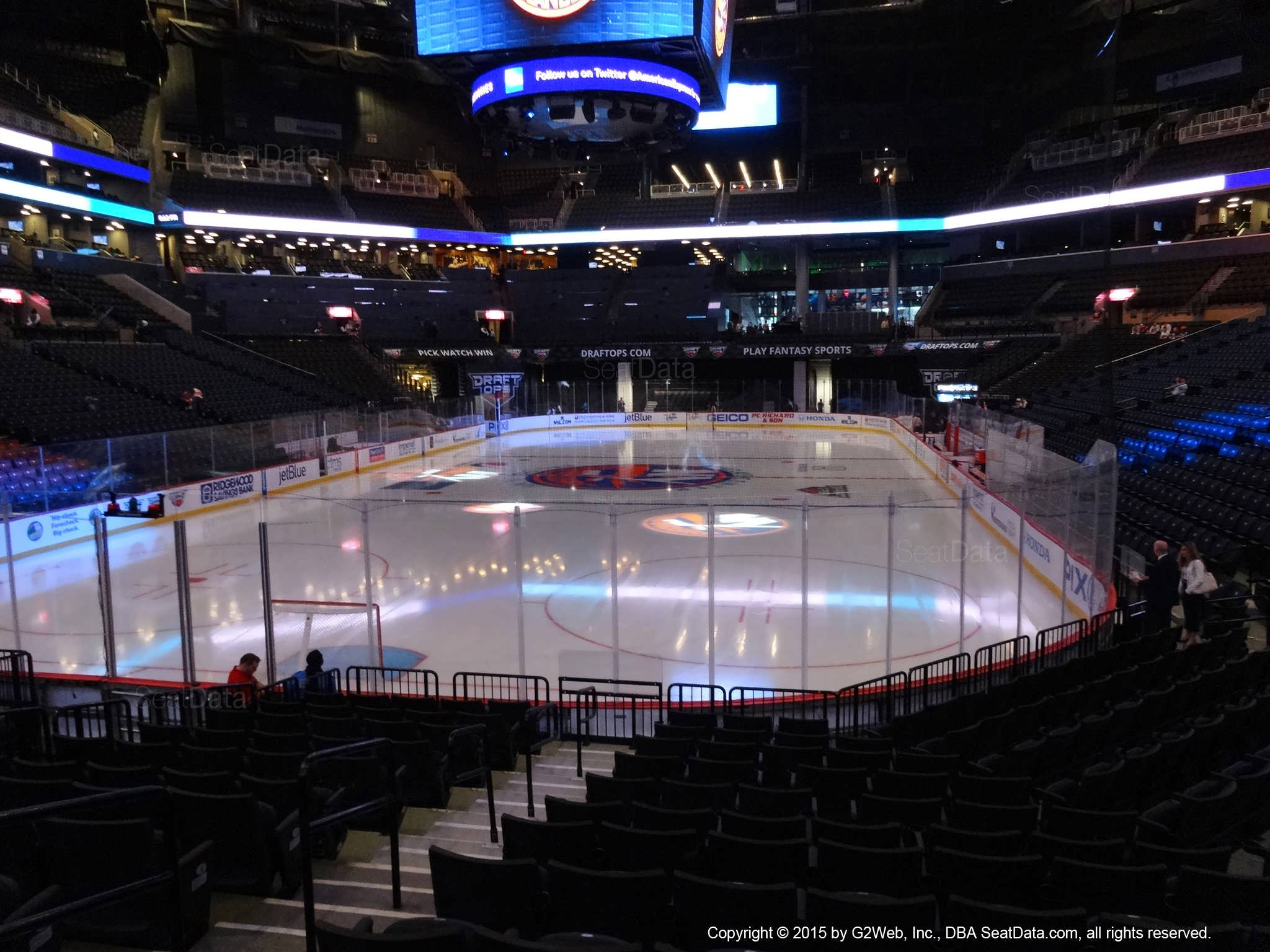 Seat view from section 15 at the Barclays Center, home of the New York Islanders