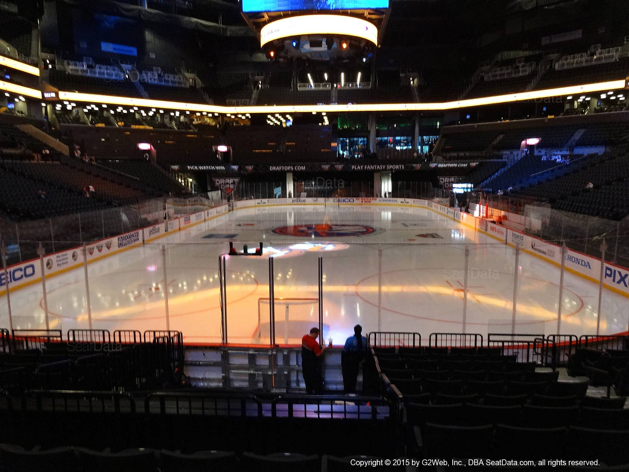 Seat view from section 16 at the Barclays Center, home of the New York Islanders