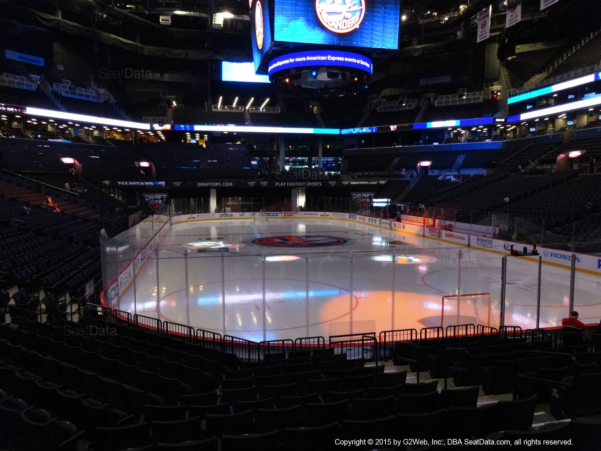 Seat view from section 17 at the Barclays Center, home of the New York Islanders