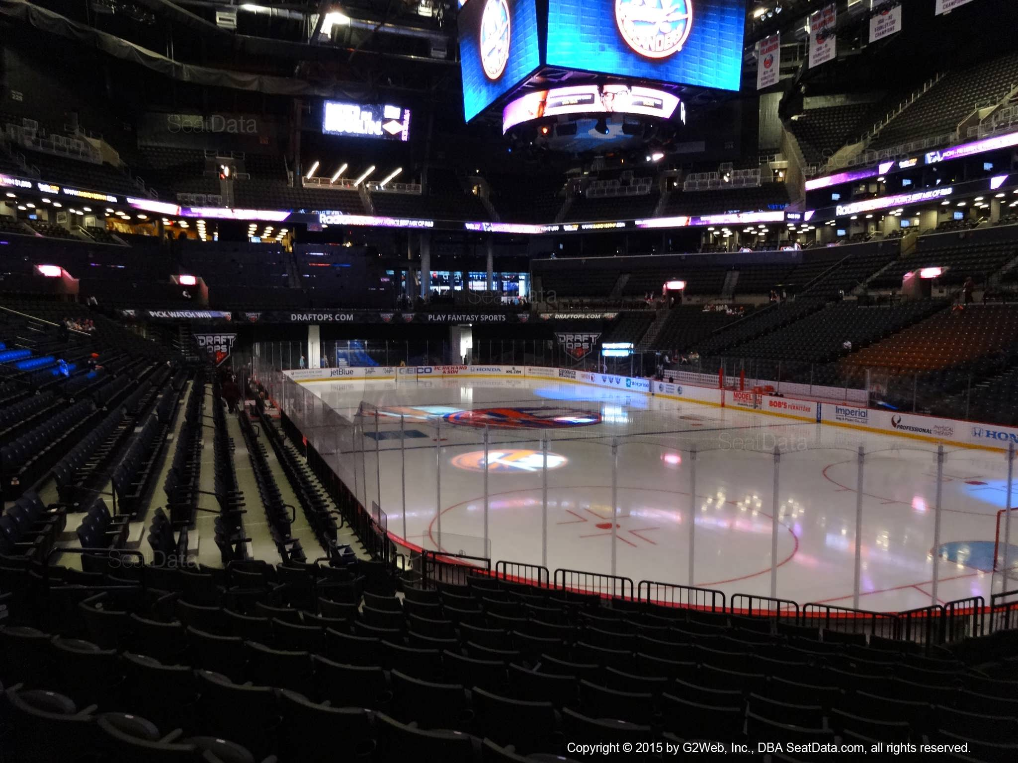 Seat view from section 19 at the Barclays Center, home of the New York Islanders