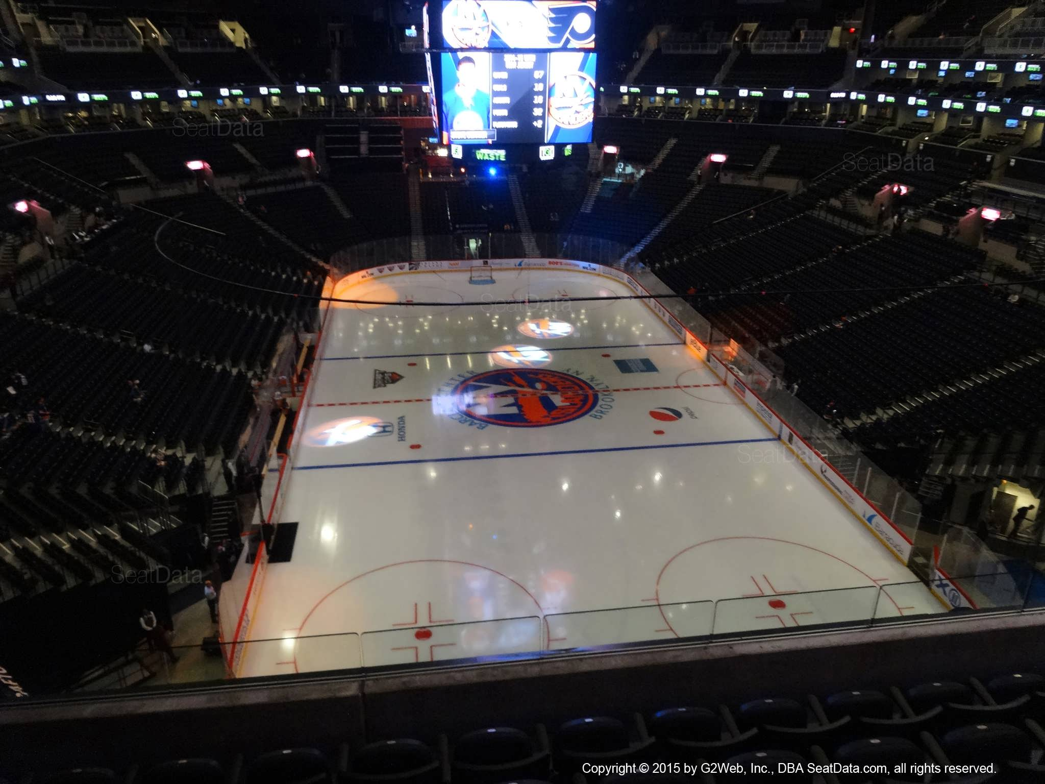 Seat View from Section 201 at the Barclays Center, home of the New York Islanders