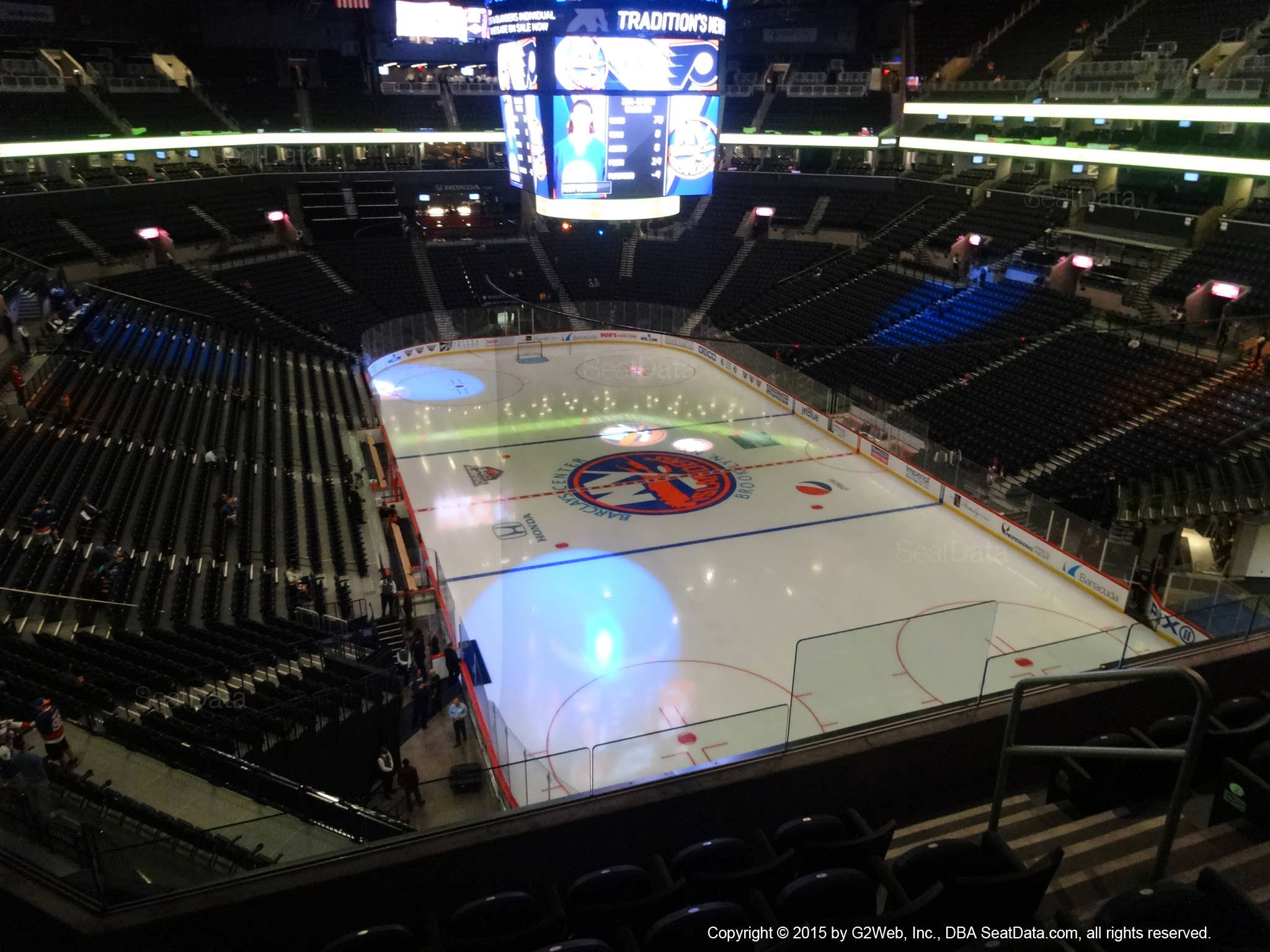 Seat View from Section 202 at the Barclays Center, home of the New York Islanders