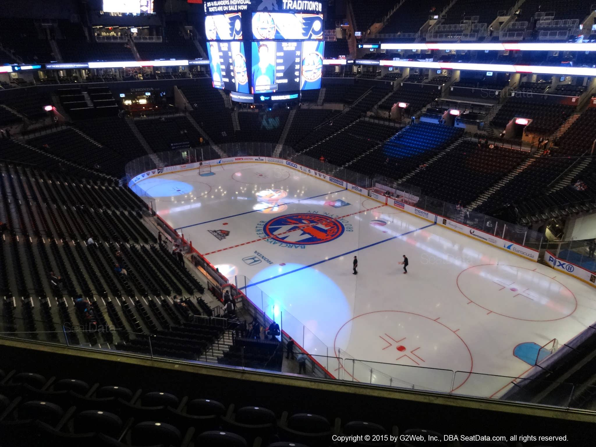 Seat View from Section 203 at the Barclays Center, home of the New York Islanders