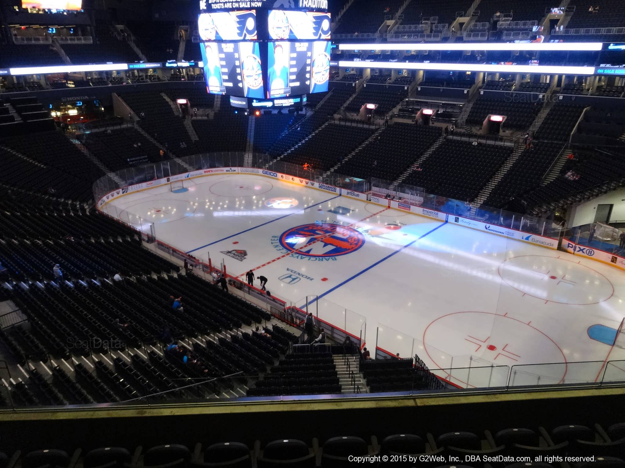 Seat View from Section 204 at the Barclays Center, home of the New York Islanders