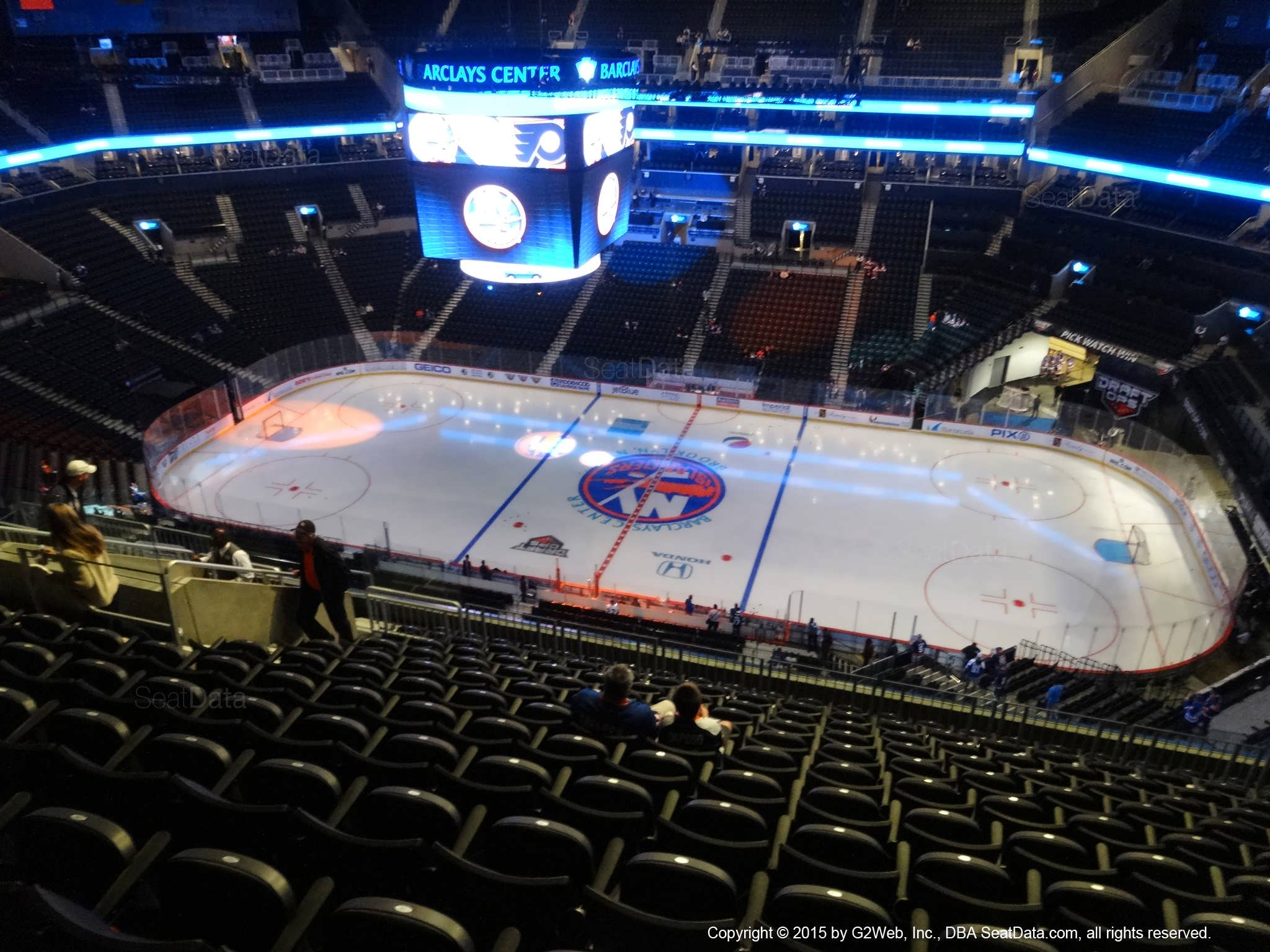 Seat View from Section 206 at the Barclays Center, home of the New York Islanders