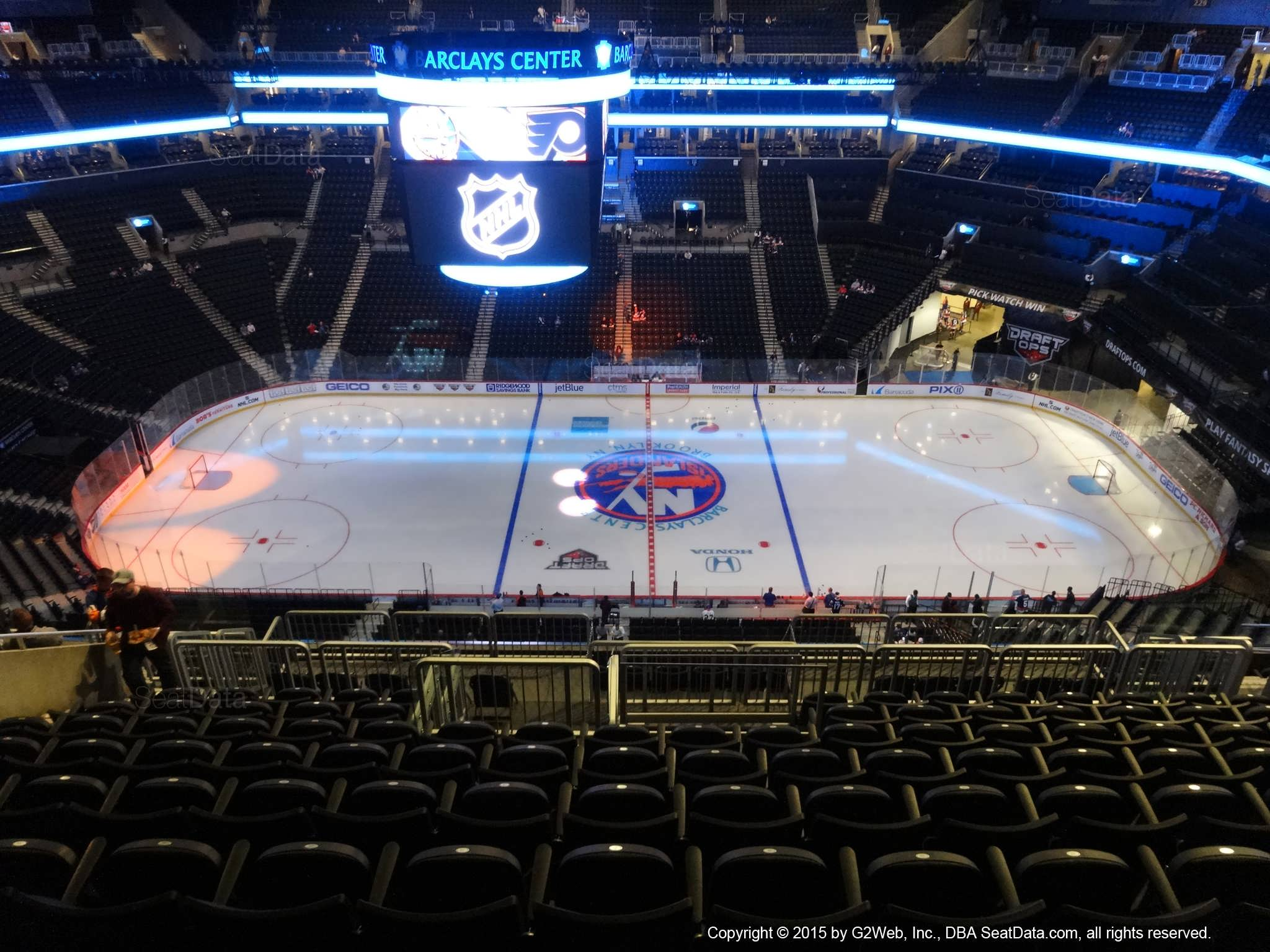 Seat View from Section 207 at the Barclays Center, home of the New York Islanders