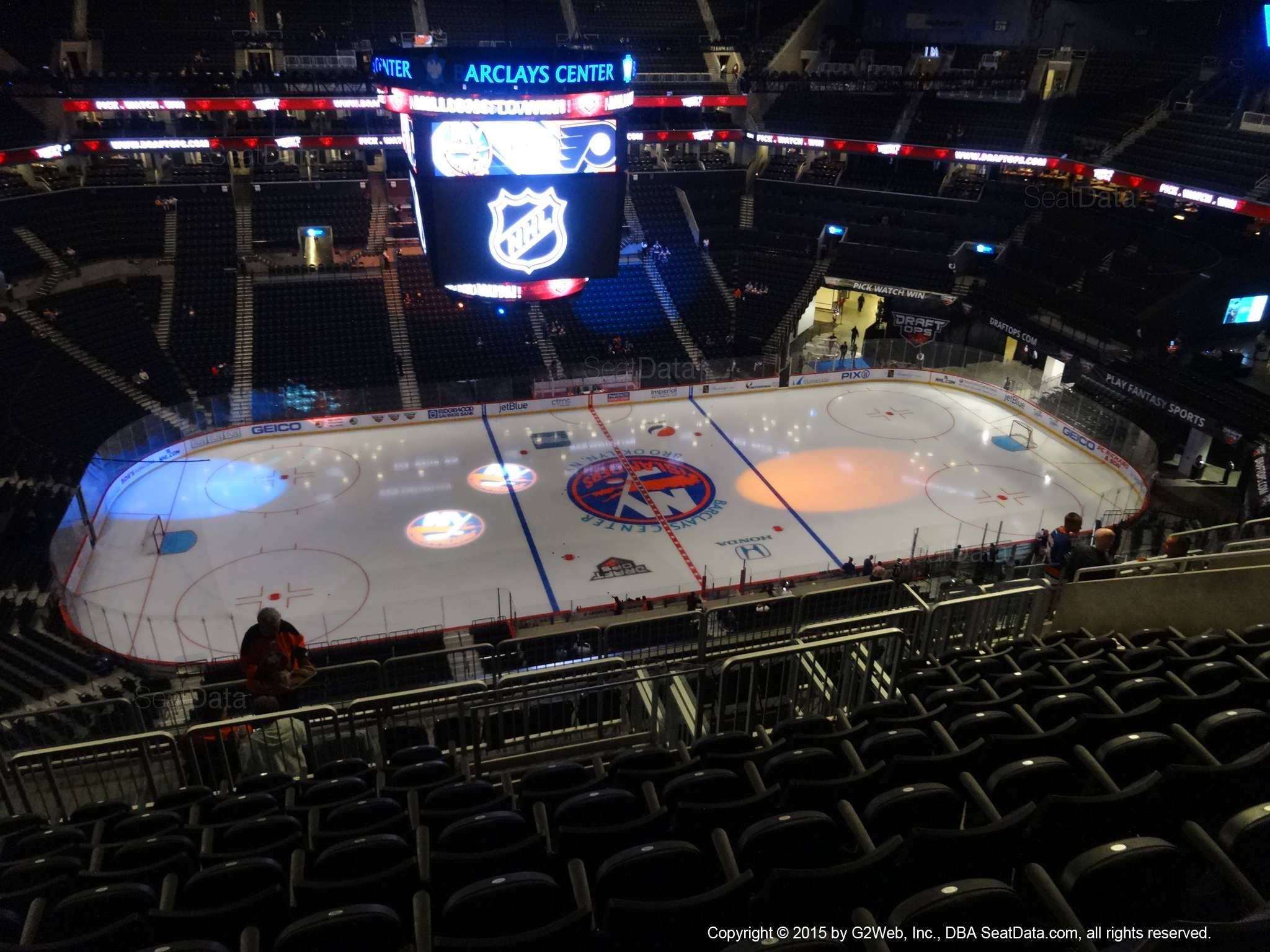 Seat View from Section 209 at the Barclays Center, home of the New York Islanders