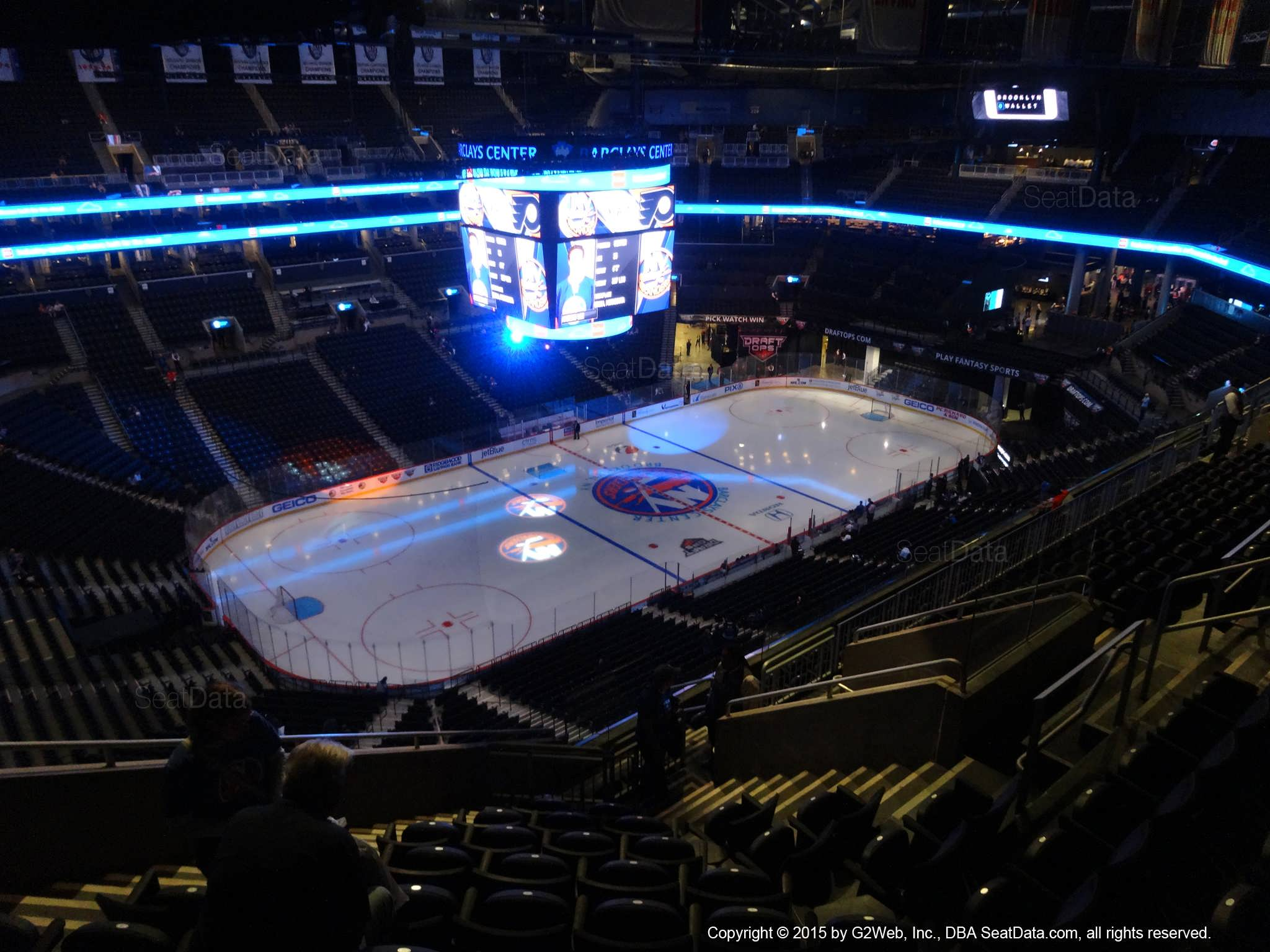 Seat View from Section 211 at the Barclays Center, home of the New York Islanders
