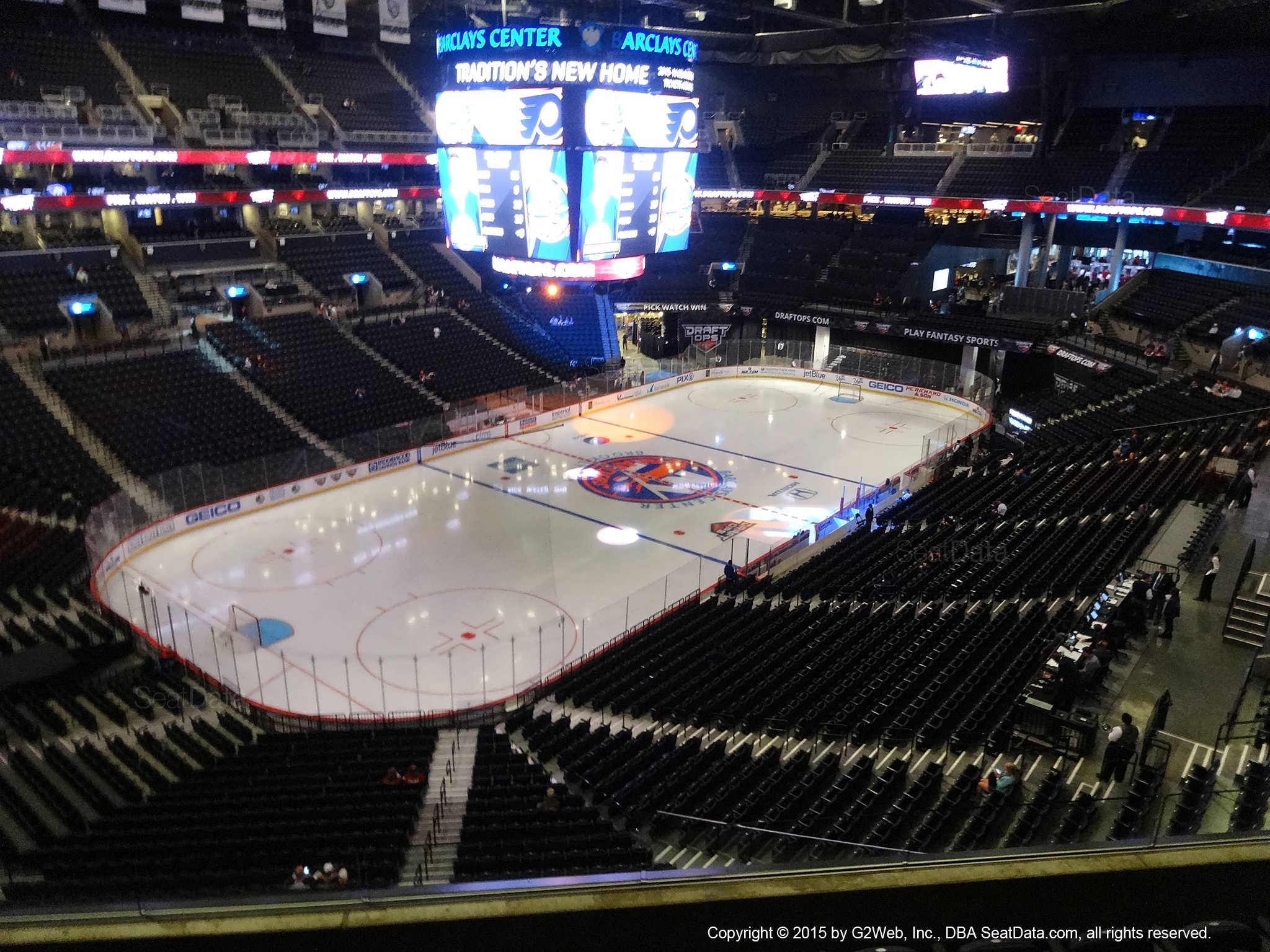 Seat View from Section 212 at the Barclays Center, home of the New York Islanders