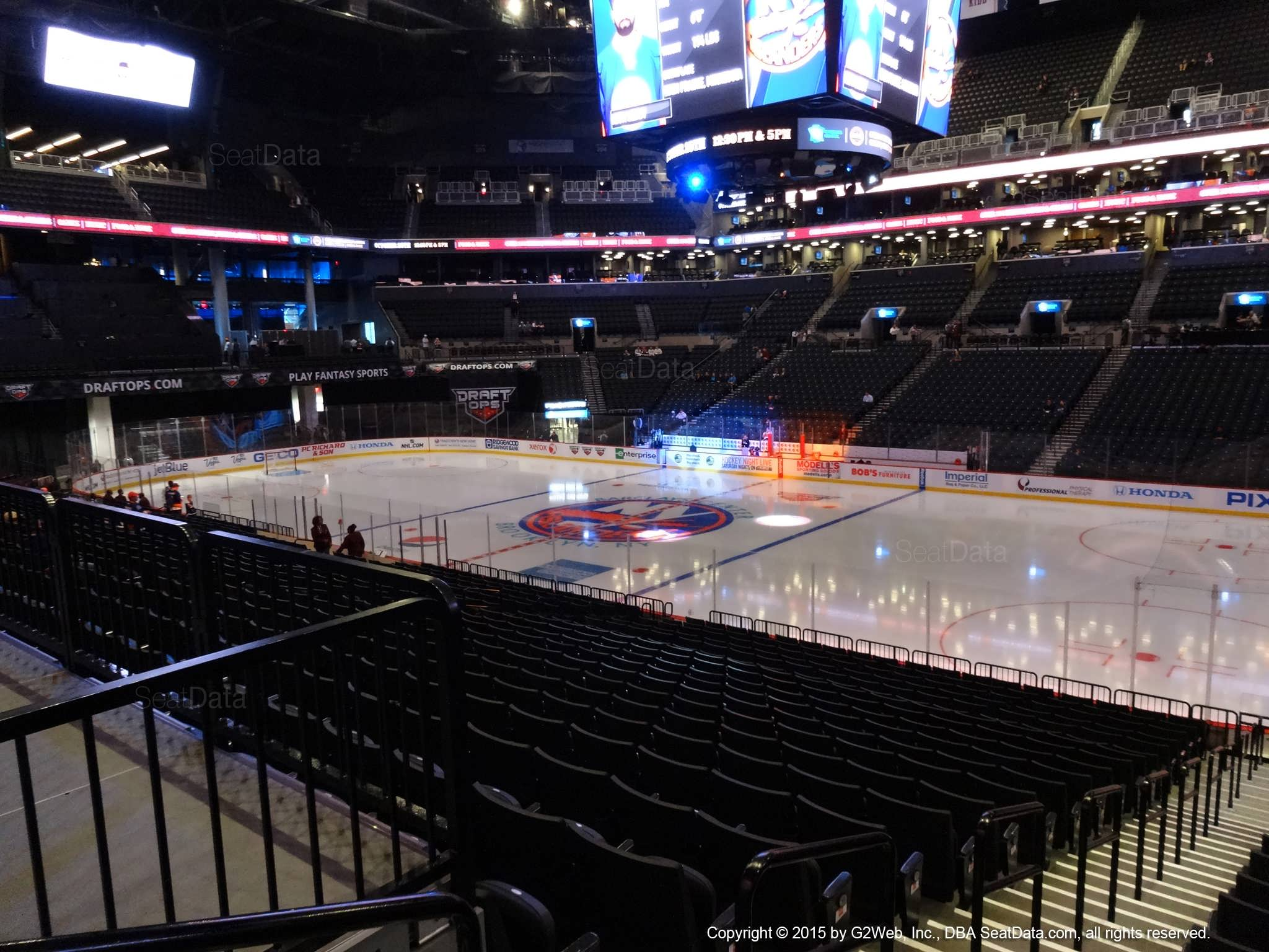 Seat view from section 22 at the Barclays Center, home of the New York Islanders