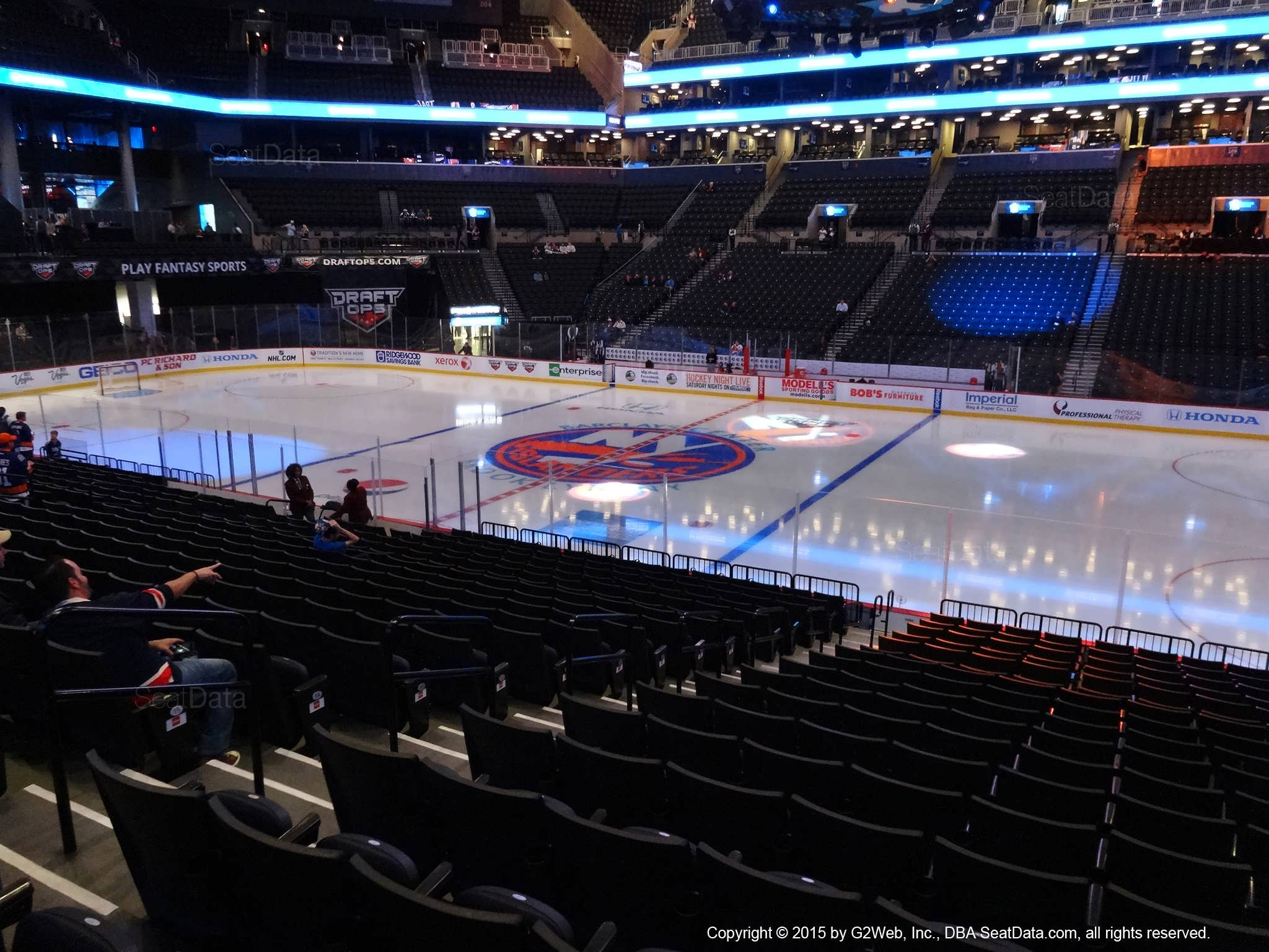 Seat view from section 23 at the Barclays Center, home of the New York Islanders