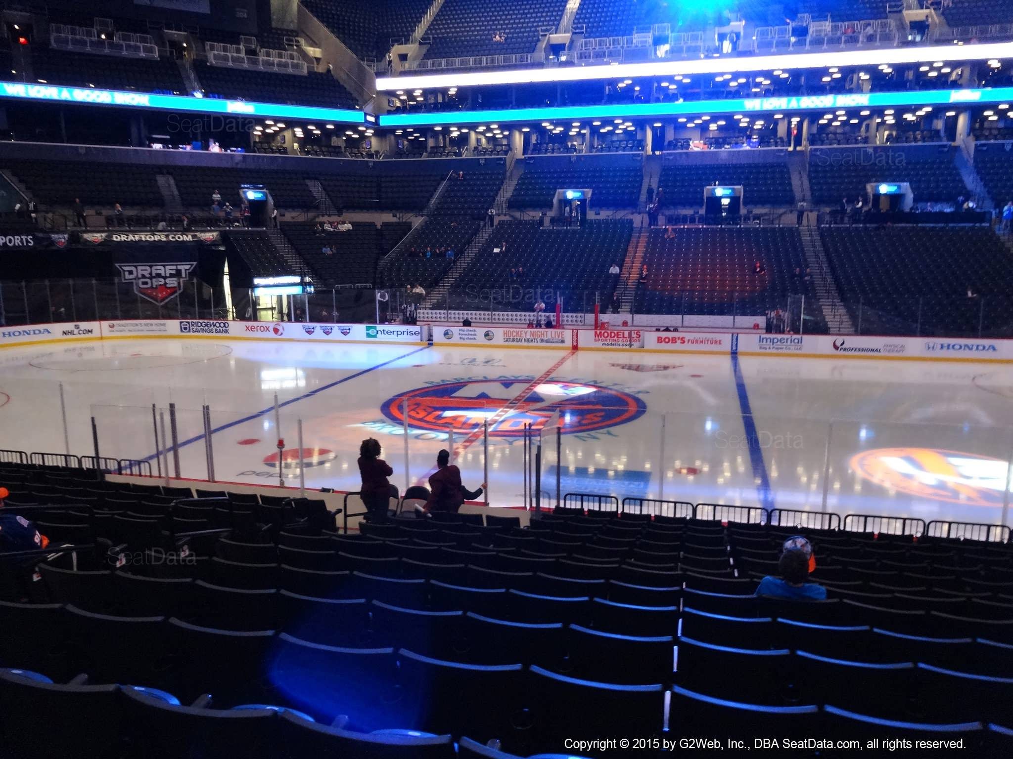 Seat view from section 24 at the Barclays Center, home of the New York Islanders