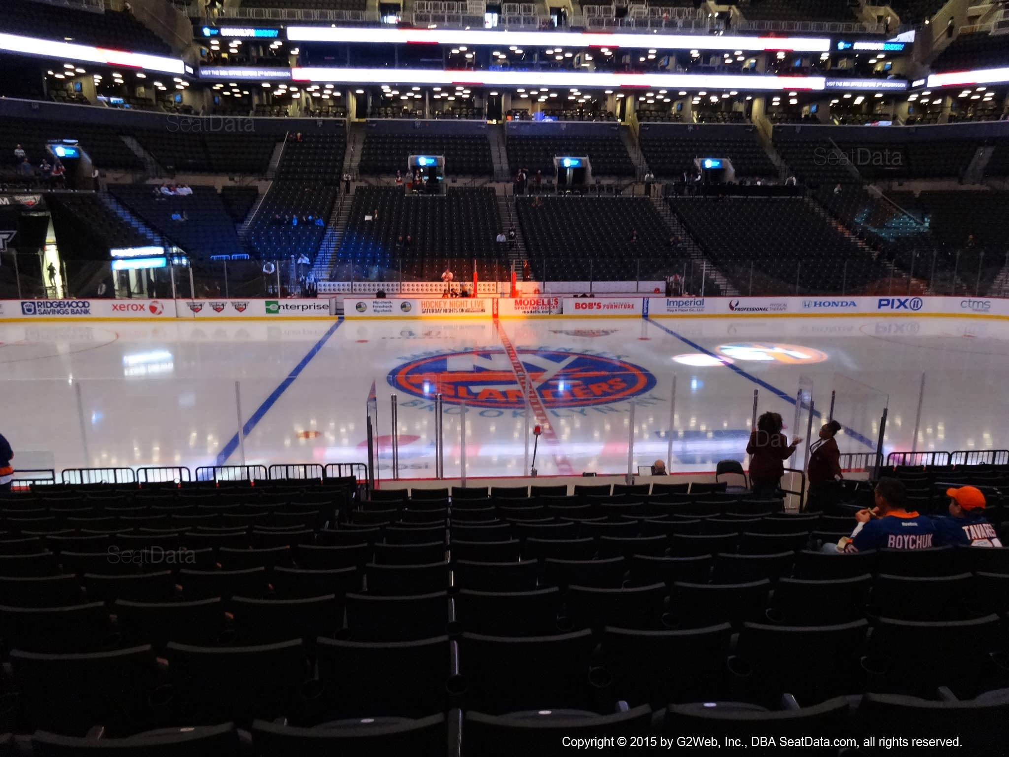 Seat view from section 25 at the Barclays Center, home of the New York Islanders