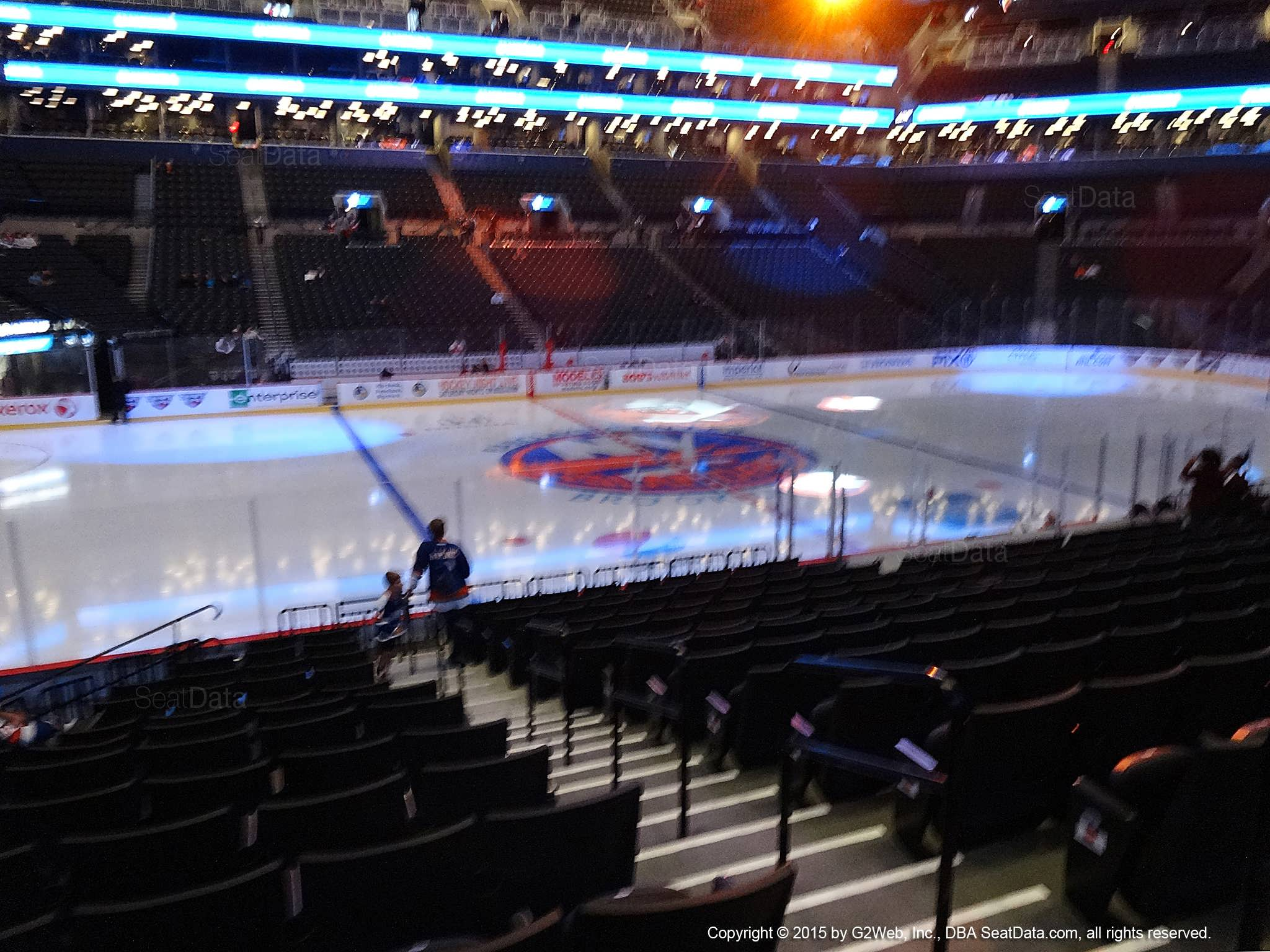 Seat view from section 26 at the Barclays Center, home of the New York Islanders