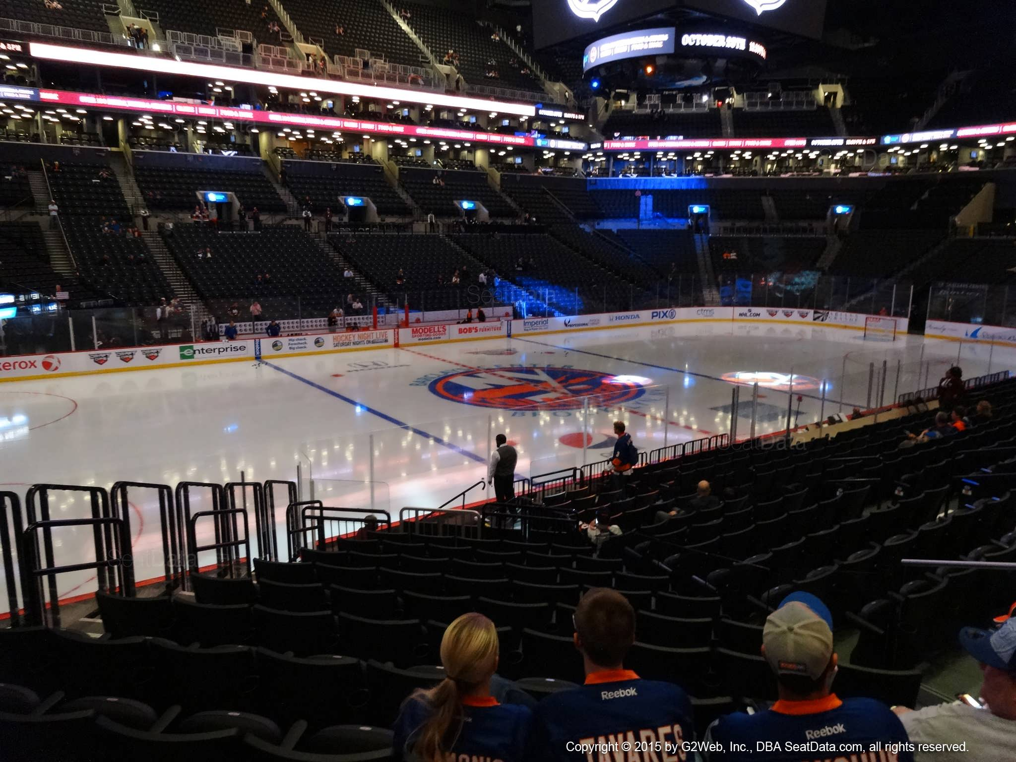 Seat View from Section 28 at the Barclays Center, home of the New York Islanders