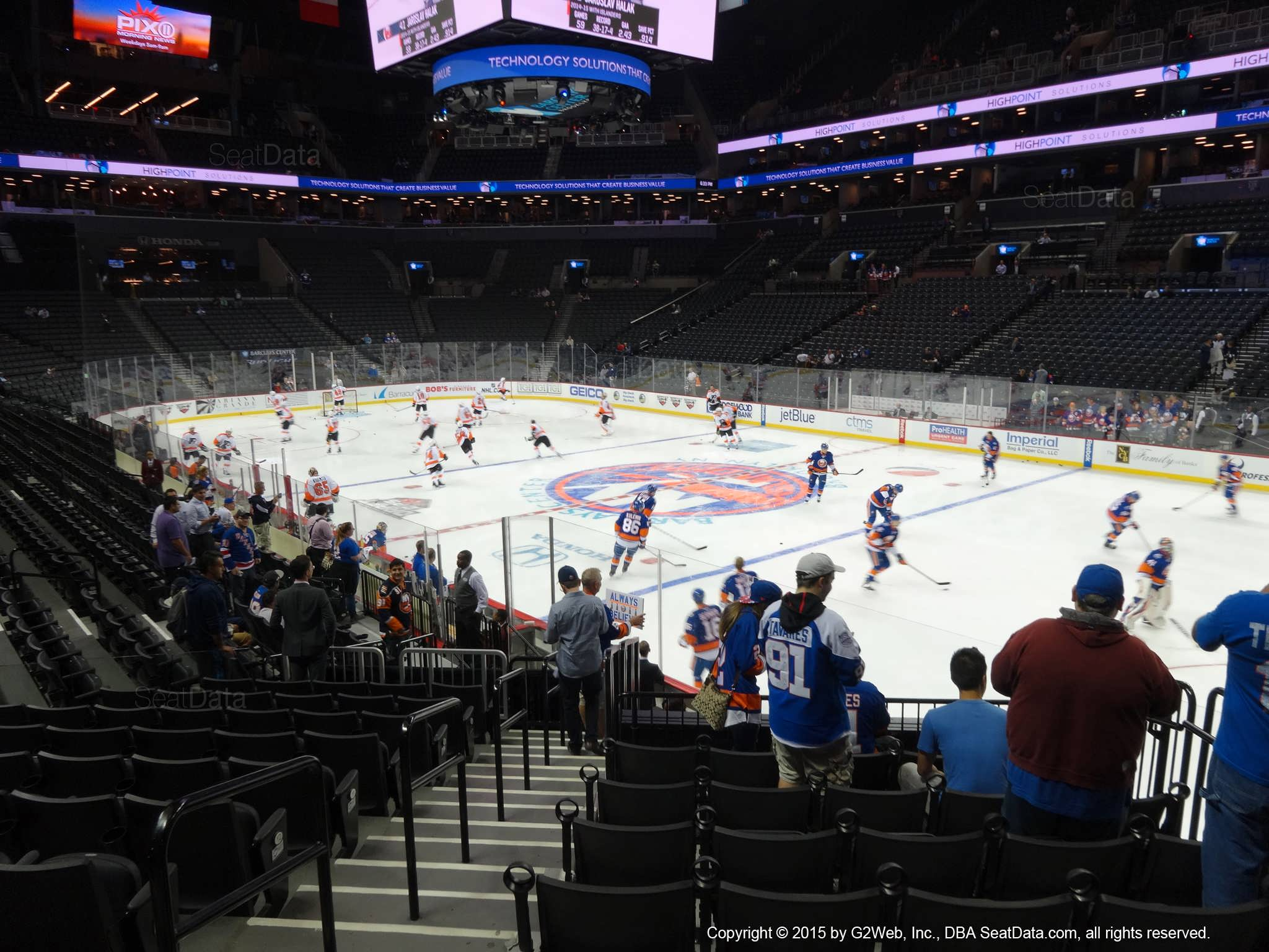 Seat view from section 4 at the Barclays Center, home of the New York Islanders