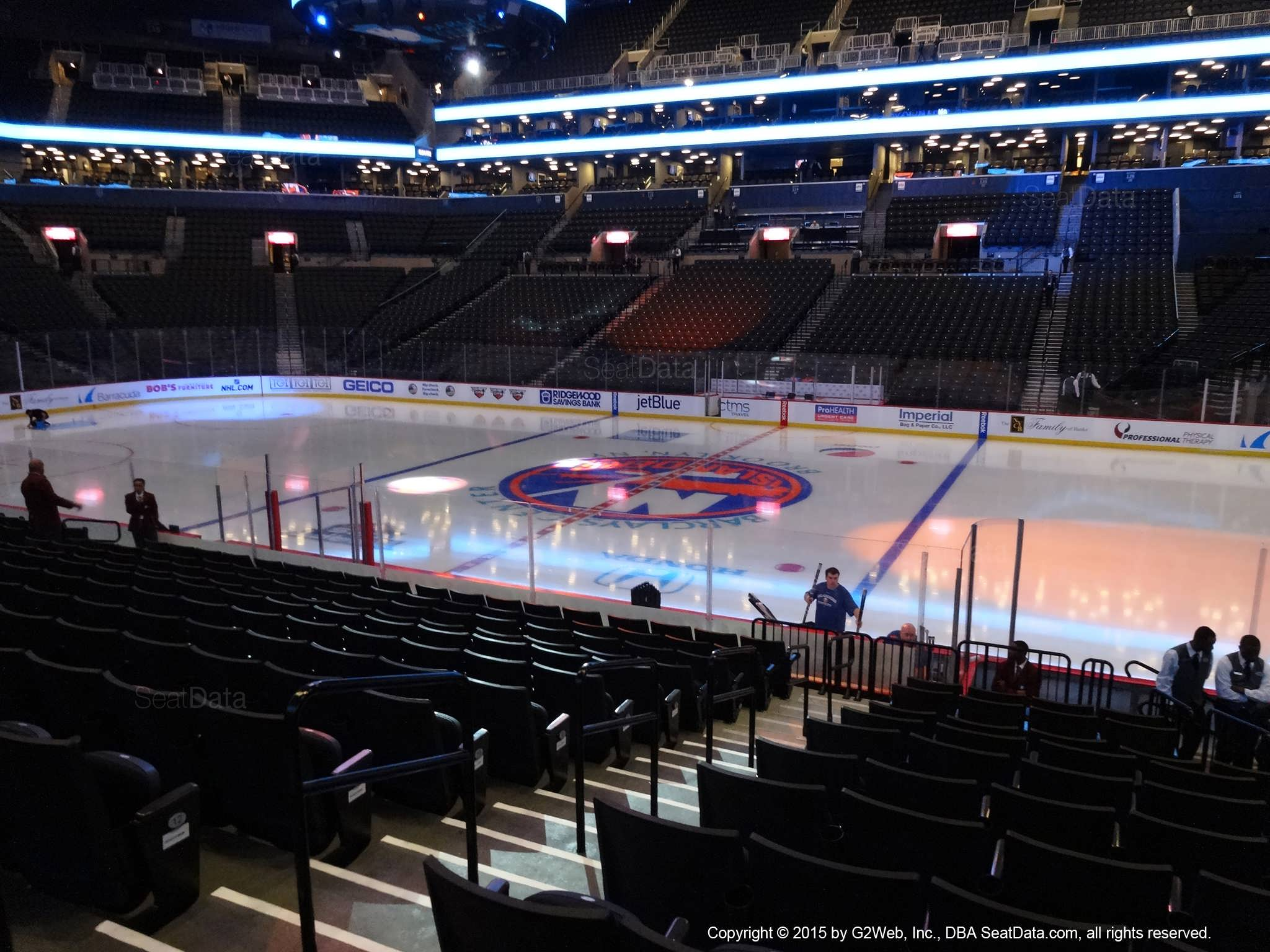 Seat view from section 6 at the Barclays Center, home of the New York Islanders