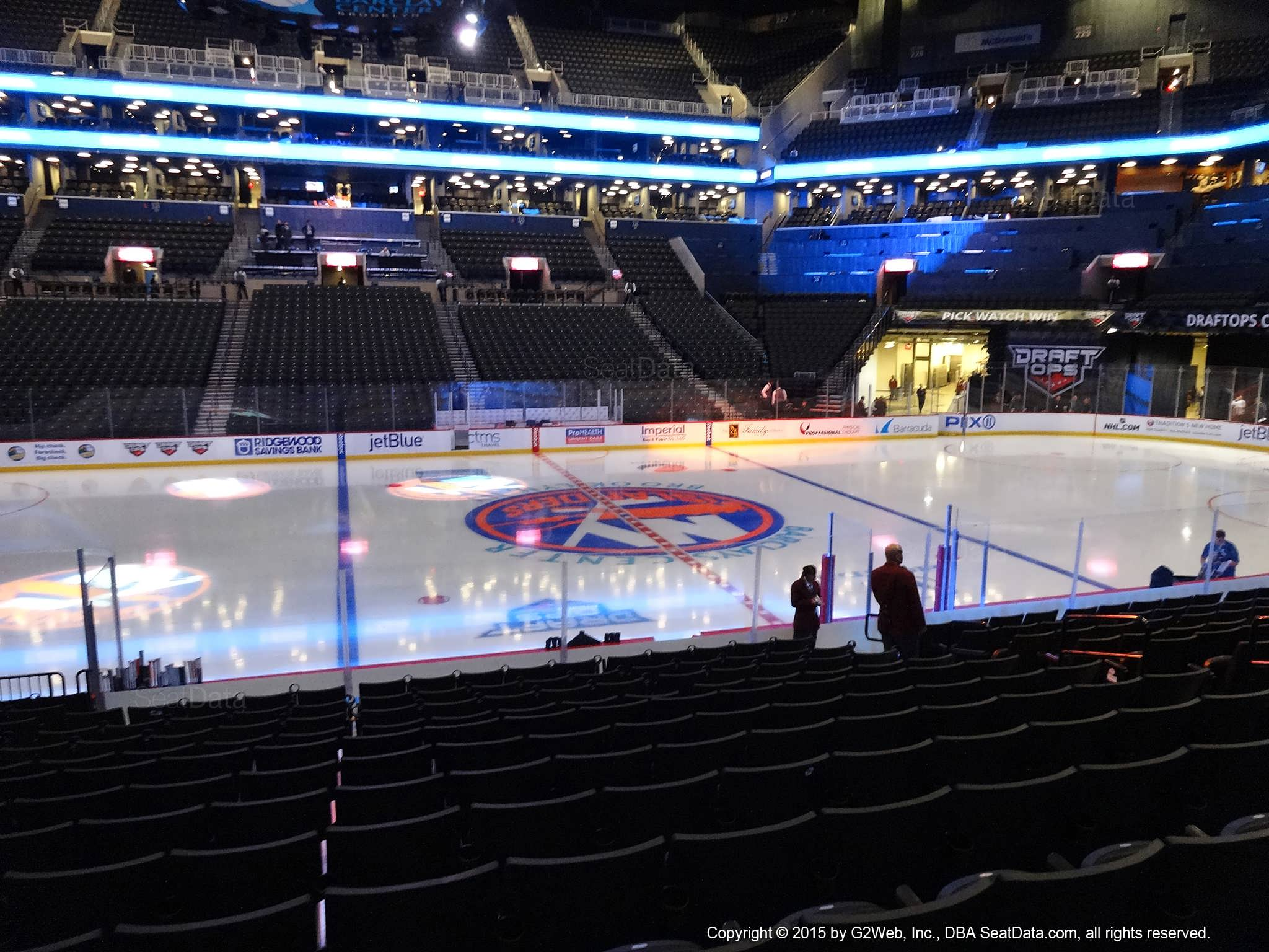 Seat view from section 8 at the Barclays Center, home of the New York Islanders