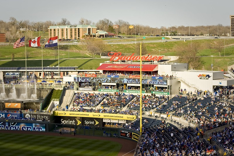 Photo of Rivals Sports Bar at Kauffman Stadium taken during a Kansas City Royals home game.