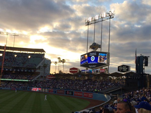 View from the Right Field Pavilion at Dodger Stadium