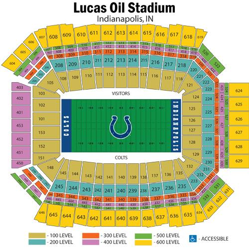 Lucas Oil Stadium Seating Chart, Indianapolis Colts