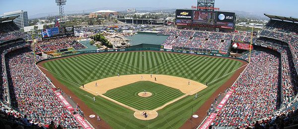 Angel Stadium of Anaheim, Home of the Los Angeles Angels of Anaheim