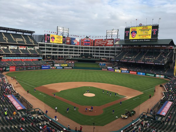 Globe Life Park in Arlington, Texas, Home of the Texas Rangers
