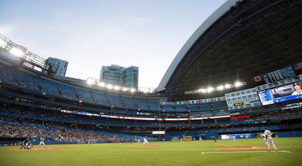 Photo of the infield at the Rogers Centre. Home of the Toronto Blue Jays.