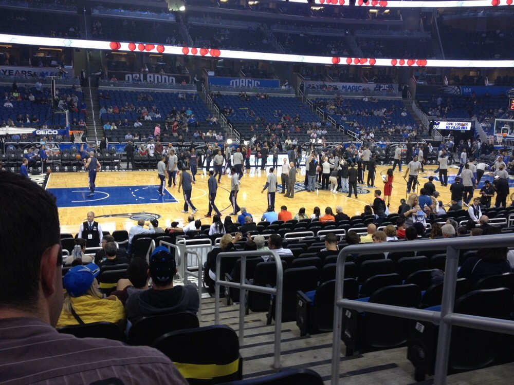 Seat view from section 116 at the Amway Center, home of the Orlando Magic.